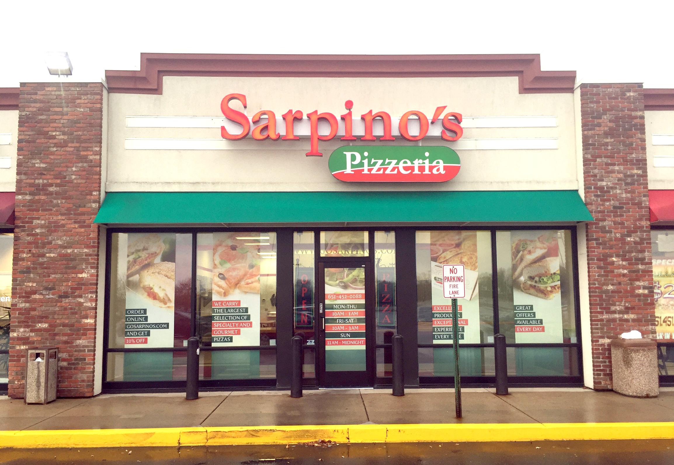 Own a Pizzeria Franchise Sarpino's storefront